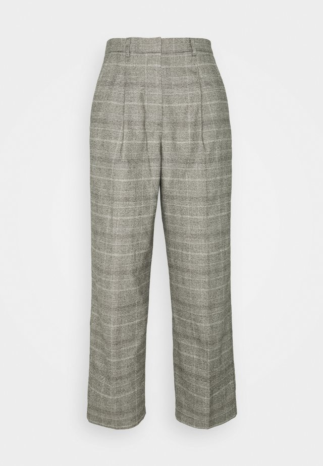 SOFT CHECK PANTS - Trousers - multi/cloudy melange
