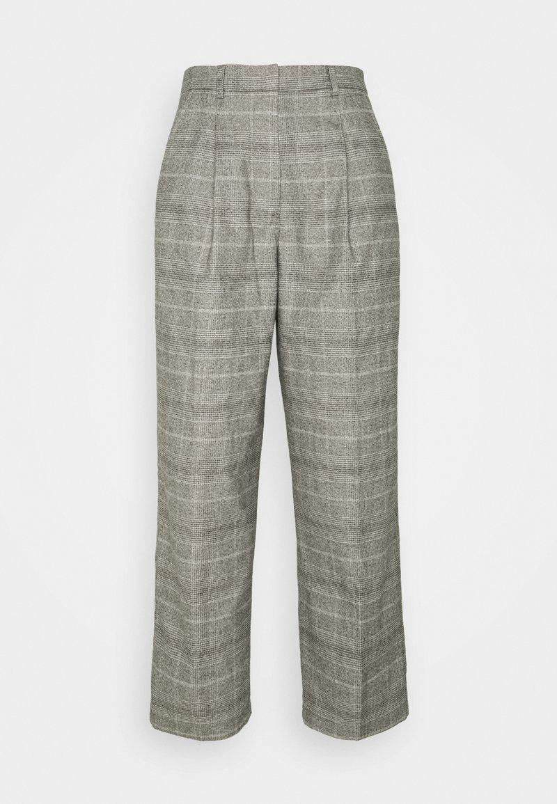 Marc O'Polo DENIM - SOFT CHECK PANTS - Bukse - multi/cloudy melange