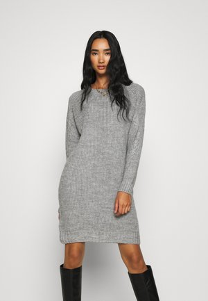 NM JIMMA - Jumper dress - light grey melange