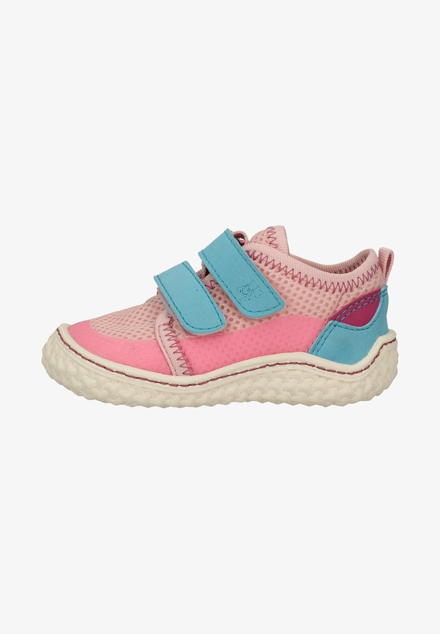 Chaussons pour bébé - rose/turquoise