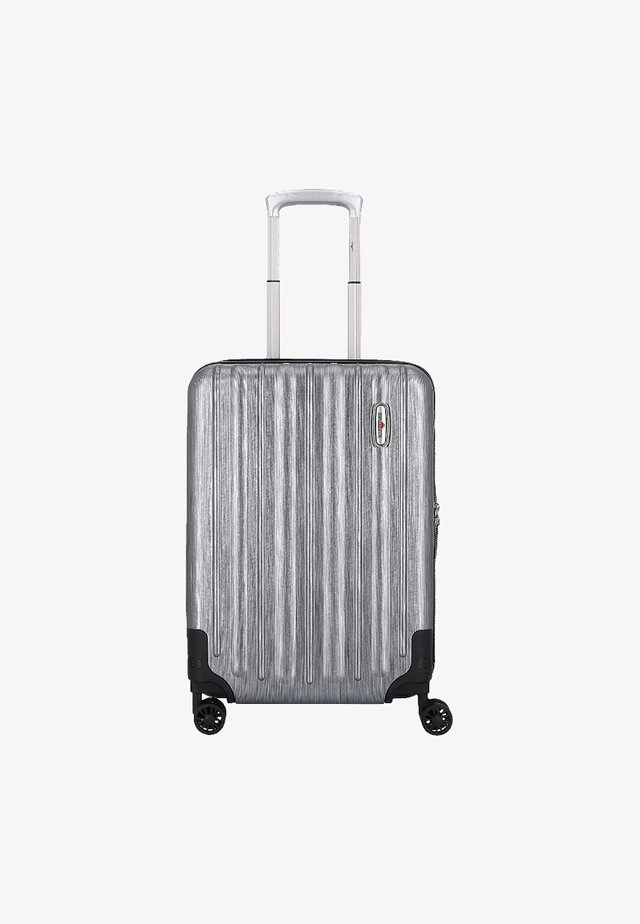 Wheeled suitcase - metallic grey