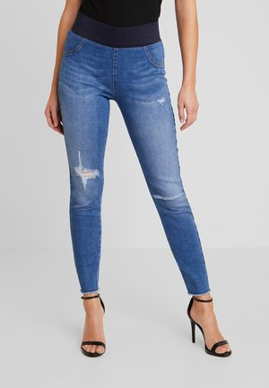 SHANTAL BROKEN - Farkkuleggingsit - medium blue