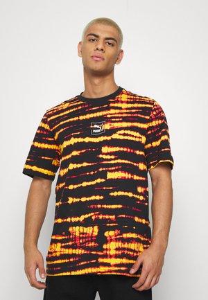 TIE DYE TEE - Print T-shirt - black