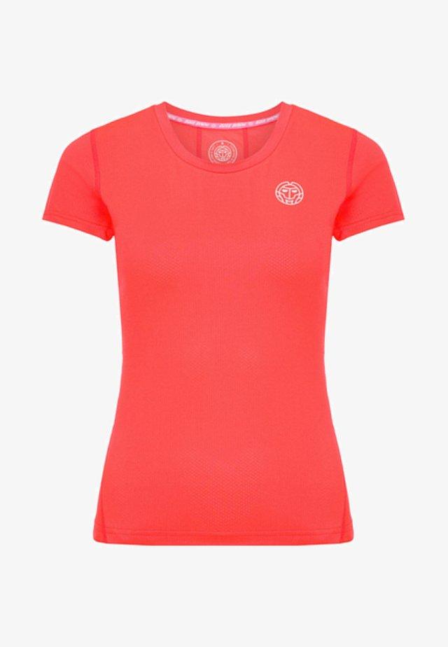 EVE - T-shirt basic - coral