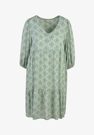 Day dress - dark green print
