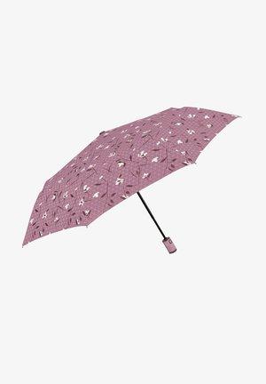 COMPACT UMBRELLA WITH FLOWERS - Umbrella - rosa antico