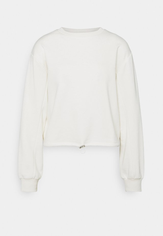 CROPPED DRAWSTRING - Sweatshirt - off white