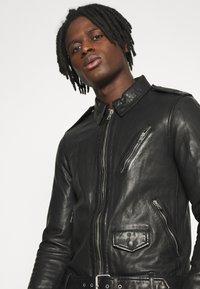 AllSaints - MONZA JACKET - Leather jacket - black - 4