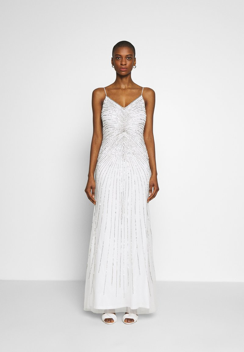 Adrianna Papell - BEADED MERMAID GOWN - Occasion wear - ivory