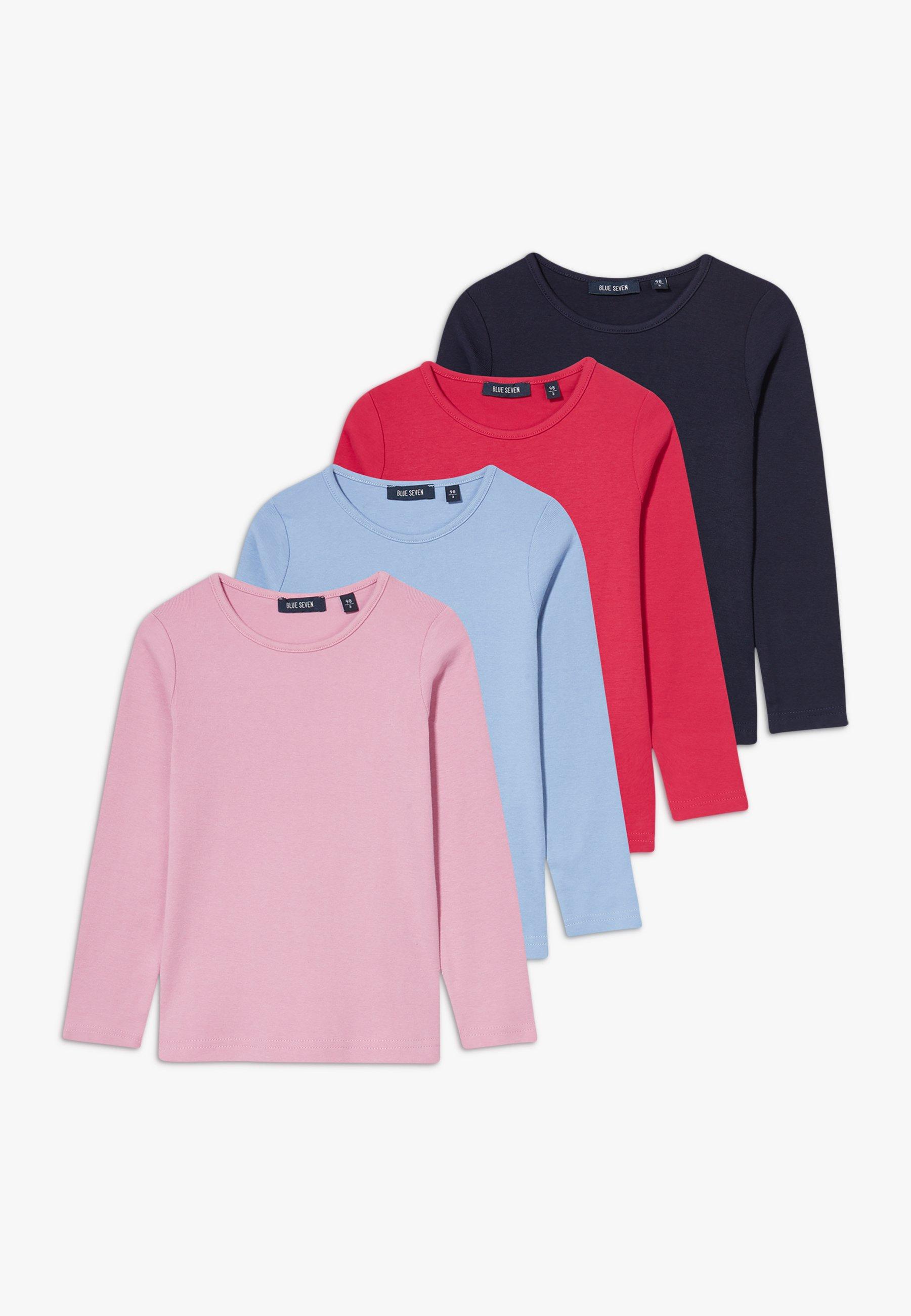 KIDS BASIC MULTI 4 PACK Långärmad tröja hell blauhochrotmauvenachtblau