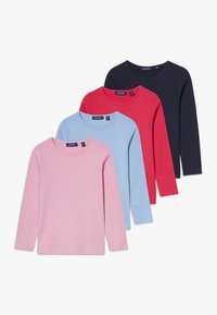 Blue Seven - KIDS BASIC MULTI 4 PACK - Long sleeved top - hell blau/hochrot/mauve/nachtblau - 0