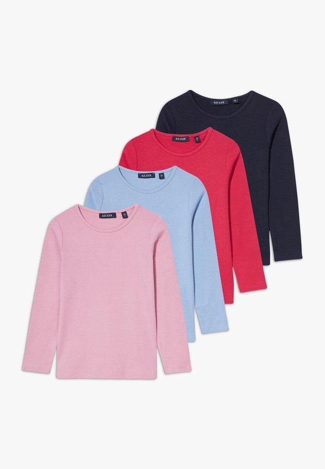 KIDS BASIC MULTI 4 PACK - T-shirt à manches longues - hell blau/hochrot/mauve/nachtblau