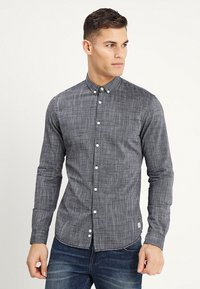 TOM TAILOR DENIM - STRUCTURE - Camisa - black iris blue - 0