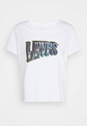 GRAPHIC SURF TEE - Print T-shirt - white