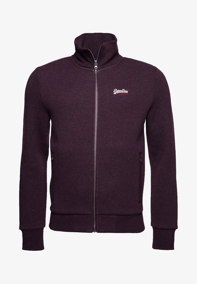 ORANGE LABEL CLASSIC TRACK - Zip-up hoodie - autumn blackberry marl