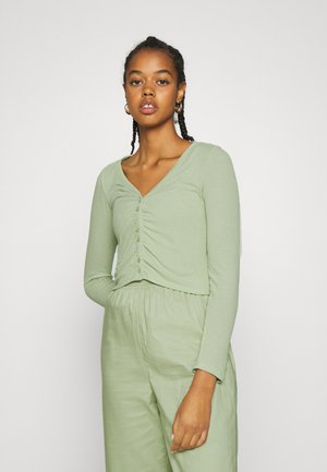 OVERA - Cardigan - green dusty light