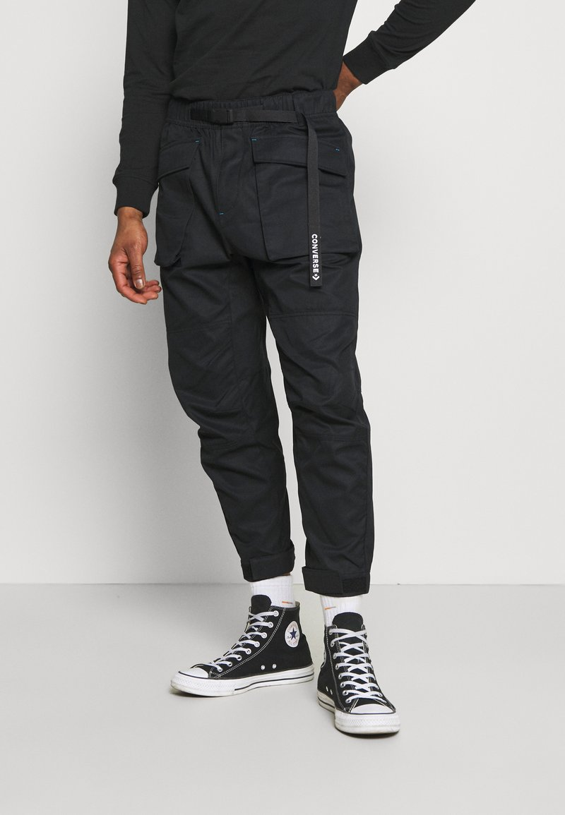 Converse - PANELED JOGGER - Cargo trousers - black