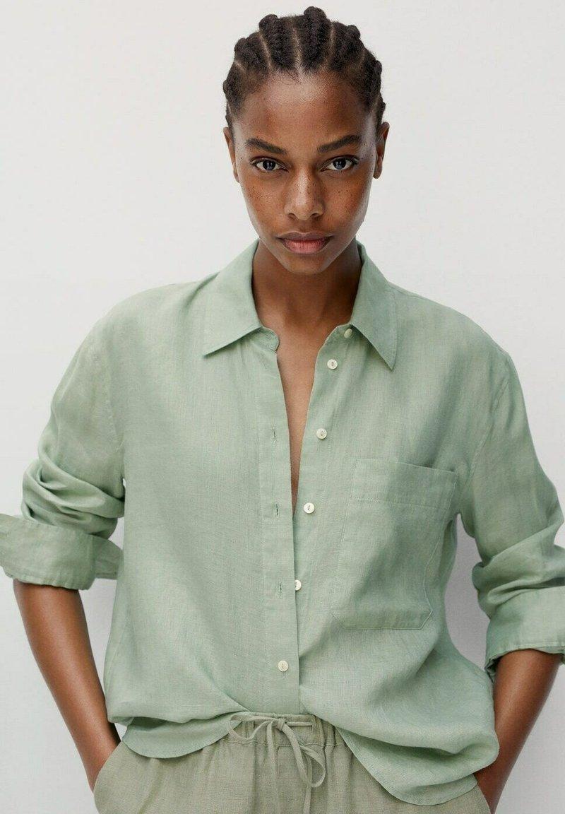 Mango - Button-down blouse - grün