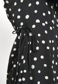 Vero Moda - VMHENNA 7/8 CALF DRESS VIP GA - Day dress - black/white - 5