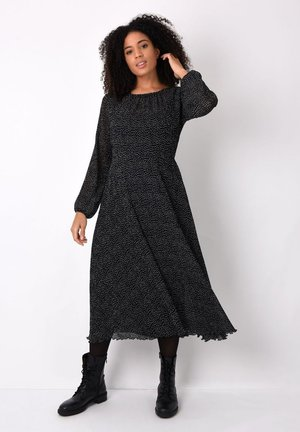 SPOT PLISSE - Day dress - black