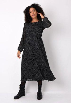 SPOT PLISSE - Korte jurk - black