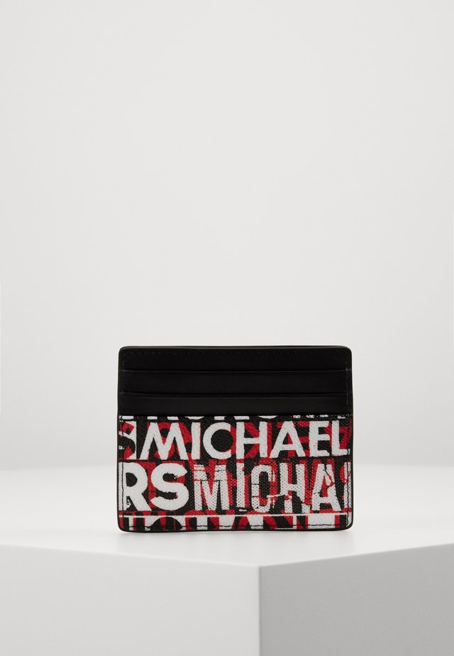 GREYSON TALL CARD CASE - Kortholder - black/red