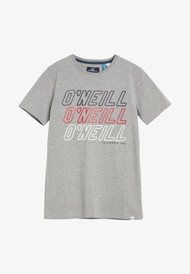 TEES ALL YEAR SS T-SHIRT - T-shirt print - silver melee