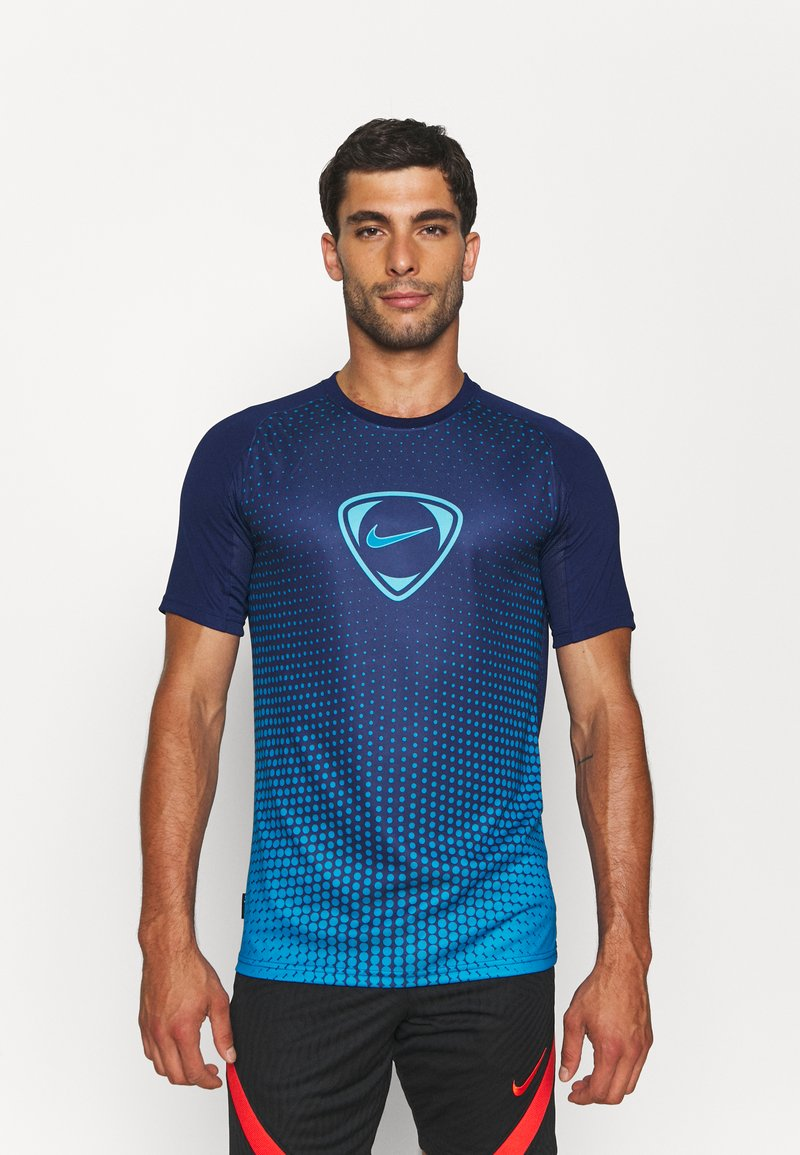 Nike Performance - ACADEMY - Print T-shirt - blue void/imperial blue