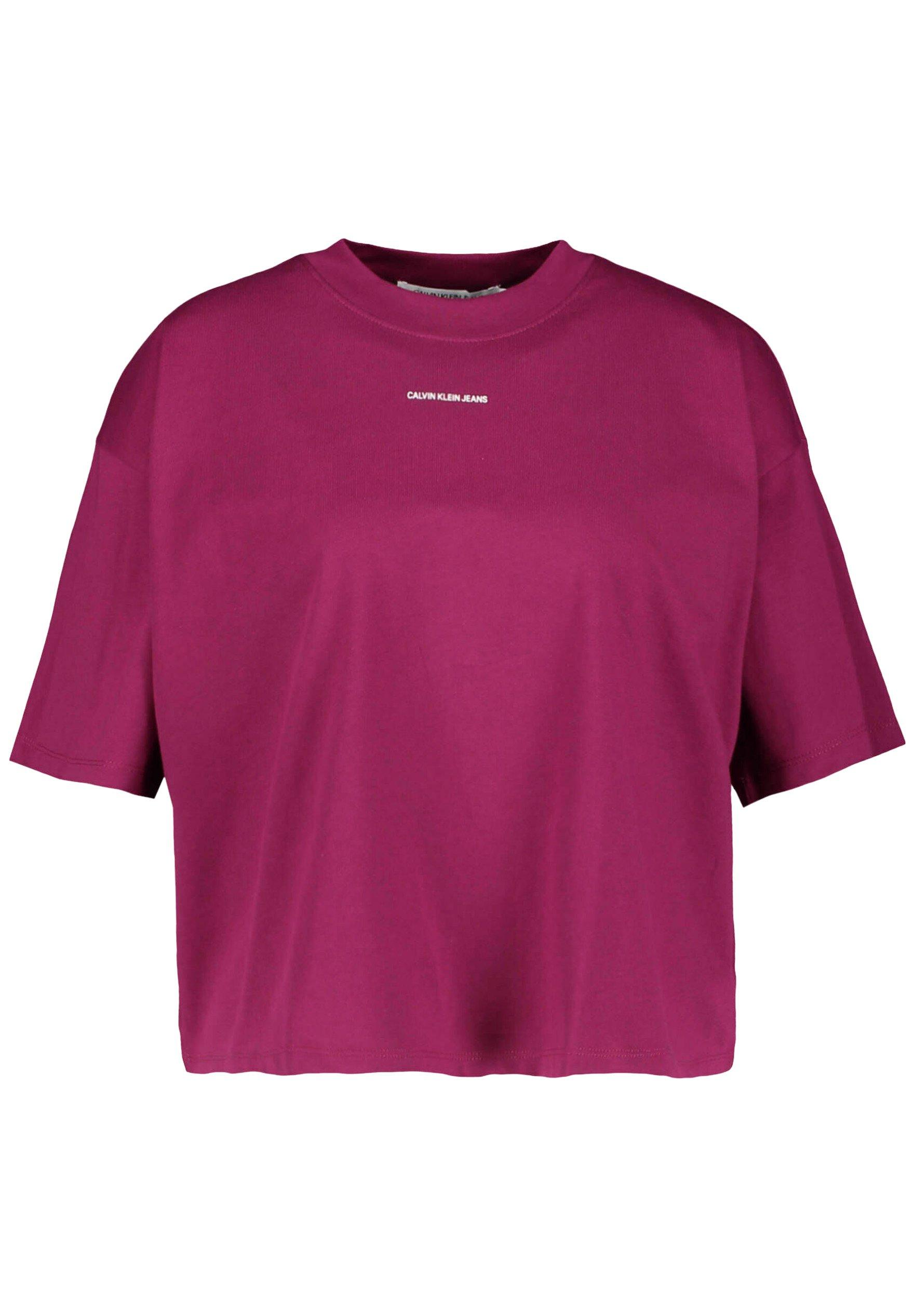 Damen MICRO BRANDING LOOSE - T-Shirt basic - rot