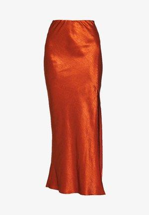 ORBIT BIAS SPLIT SKIRT - Długa spódnica - copper