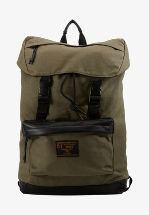 WAXED TOP LOAD COMMUTE - Rucksack - olive night