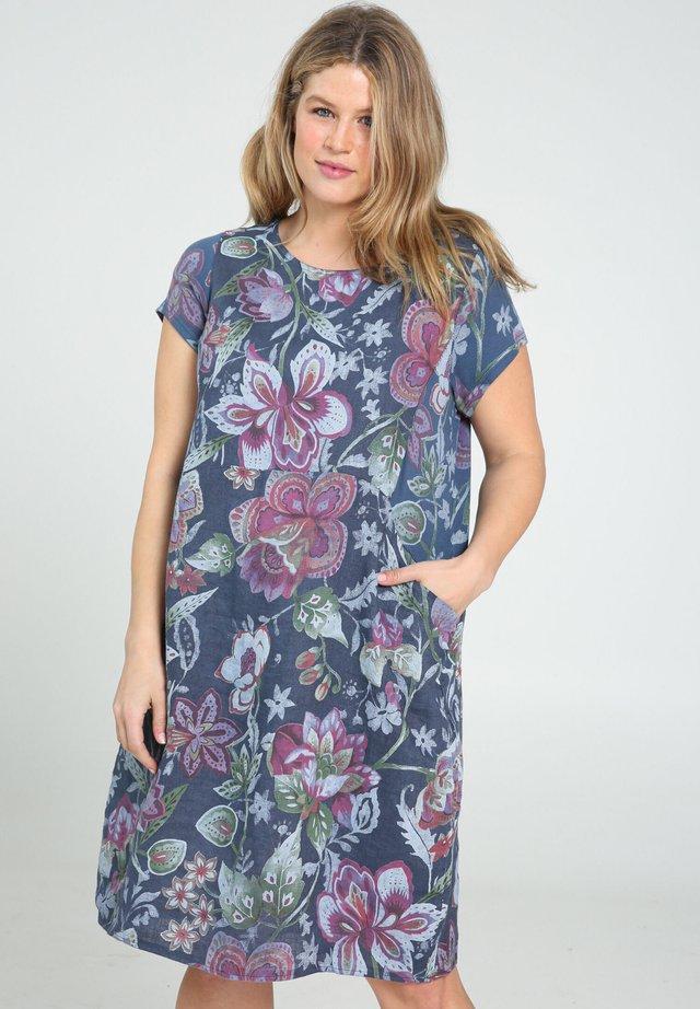 Korte jurk - indigo