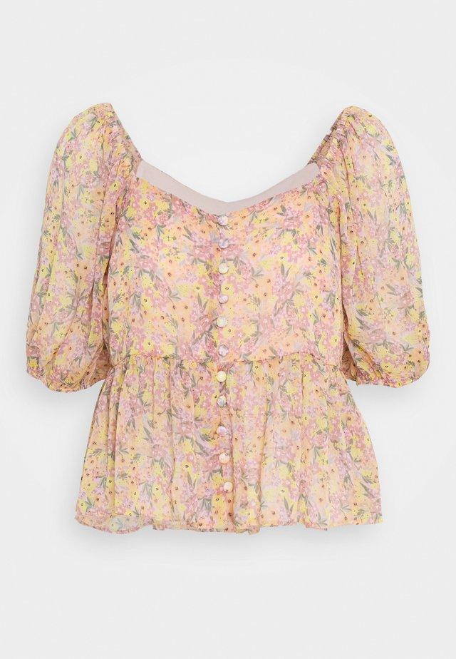 FLORA PEPLUM  - Bluzka - pink