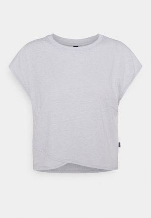 LIFESTYLE CROSS HEM - Print T-shirt - grey marle