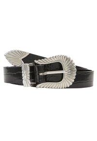 Gina Tricot - SIMONE BELT - Belte - black/silver - 4
