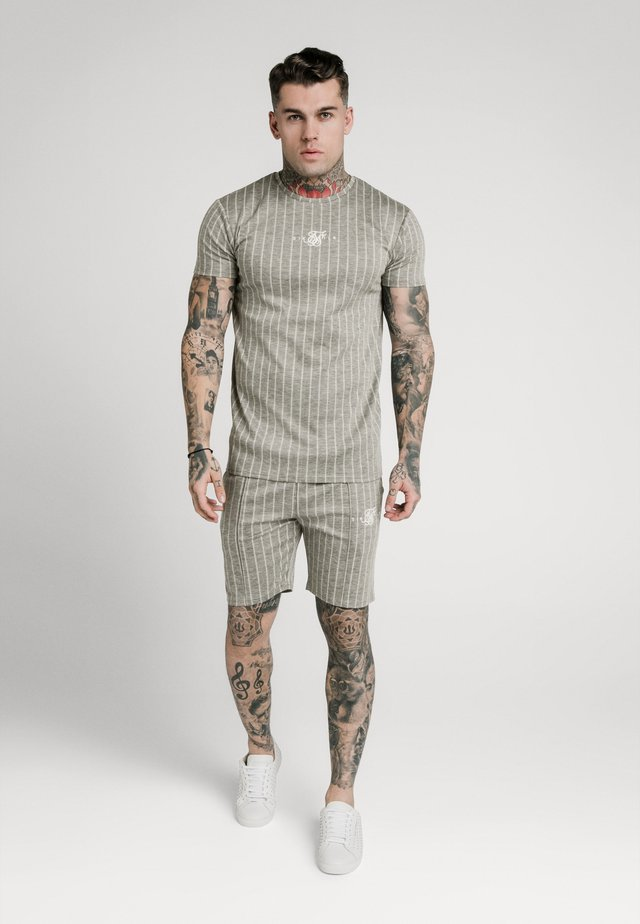 RAGLAN TECH TAPE TEE - T-shirt med print - grey