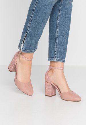 DEBS ROUND TOE TWO PART COURT - High heels - blush
