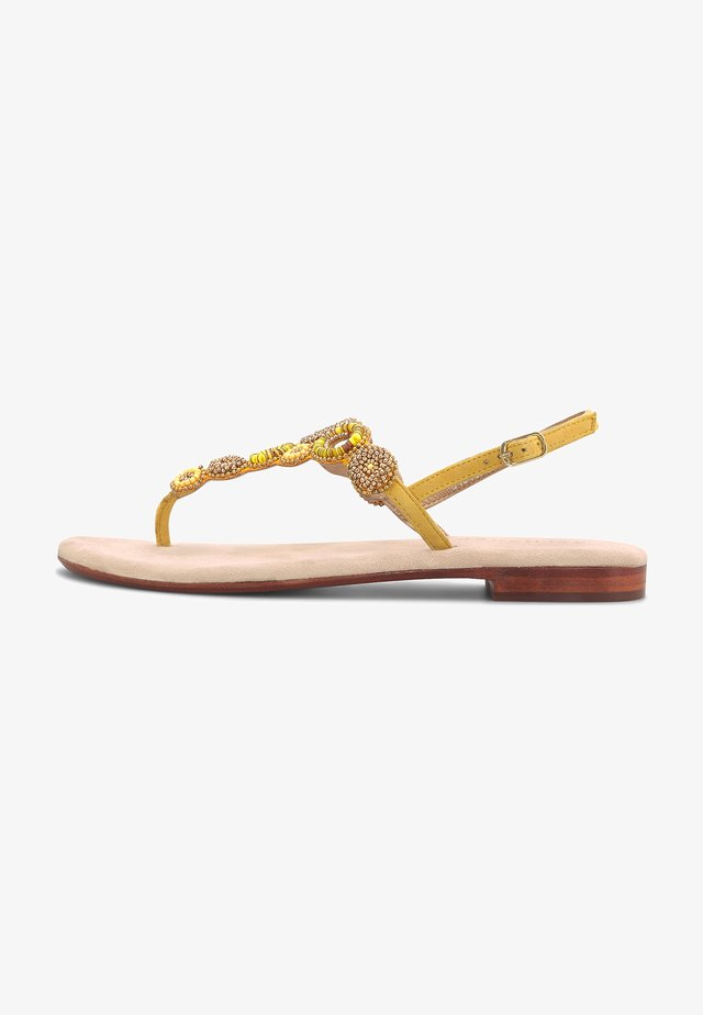 ETHNO - T-bar sandals - gelb