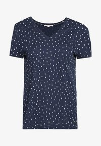 TOM TAILOR DENIM - PRINTED SLUB TEE - T-shirt imprimé - dark blue - 0