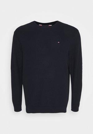 HONEYCOMB CREW NECK - Stickad tröja - blue