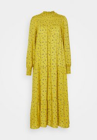 MODESTY MOCKED HIGH NECK MAI DRESSES WITH LONG SLEEVES - Maxi šaty - yellow
