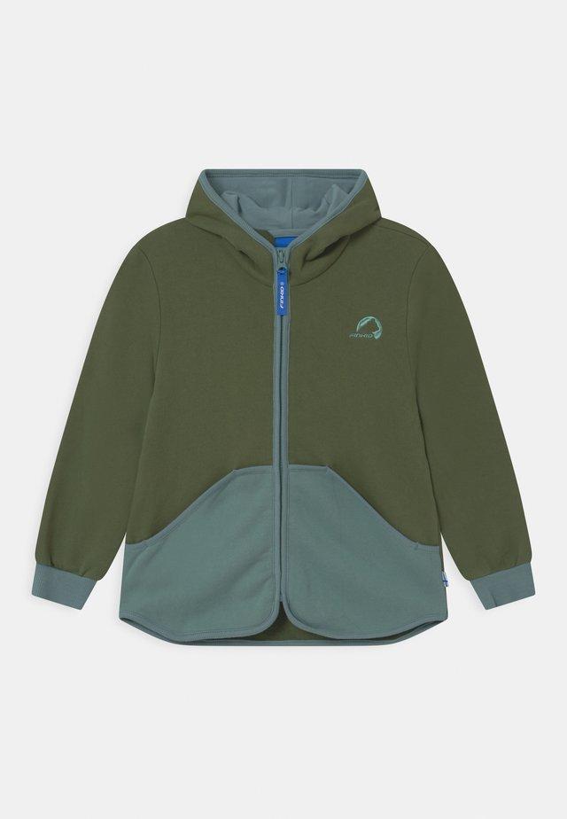JAAKKO UNISEX - veste en sweat zippée - bronze green/trellis