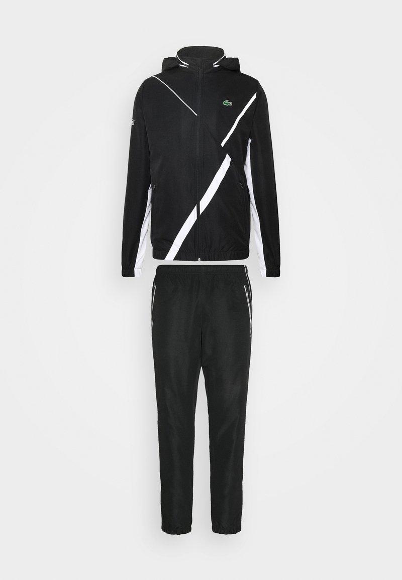 Lacoste Sport - SET TENNIS TRACKSUIT HOODED - Survêtement - black/white