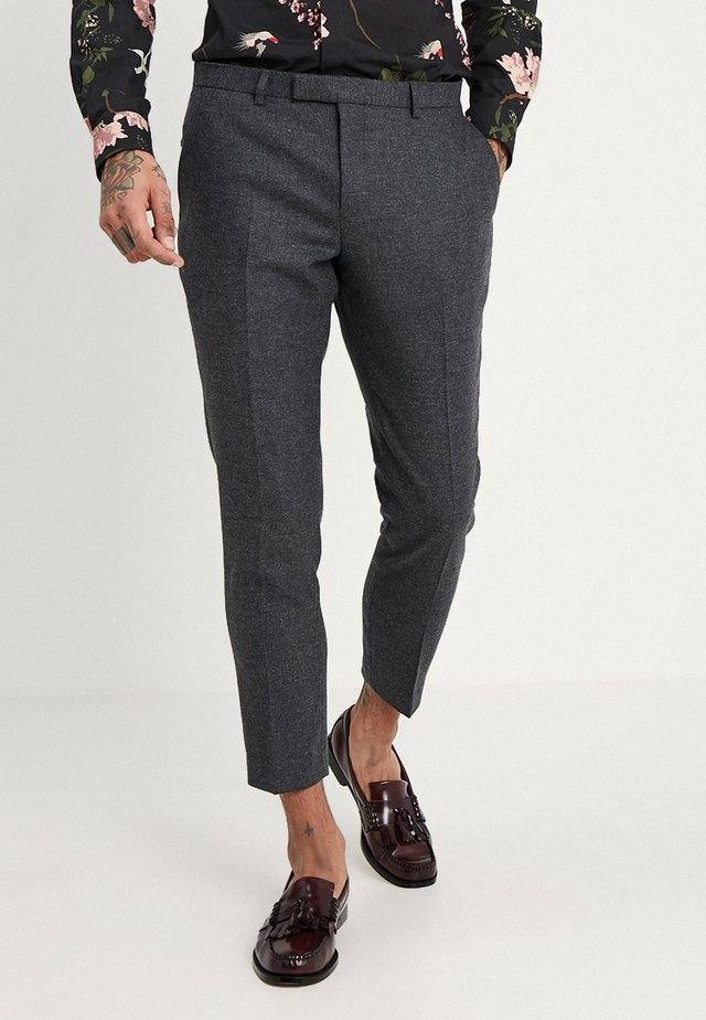 MOONLIGHT TROUSERS - Suit trousers - charcoal
