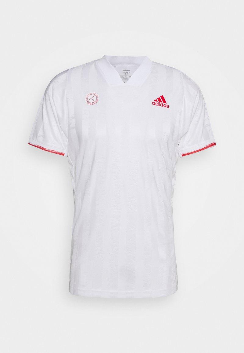 adidas Performance - FREELIFT - Sports shirt - white/scarlet