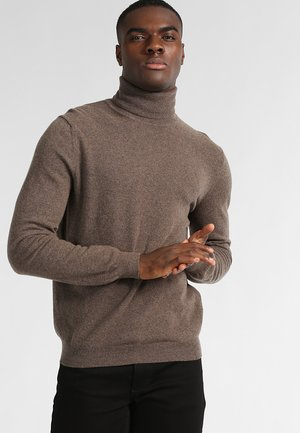 BASIC ROLL NECK - Trui - braun