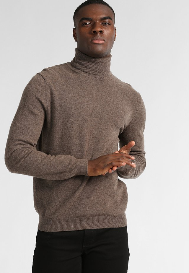 BASIC ROLL NECK - Strikkegenser - braun