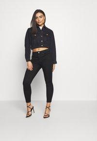 New Look Petite - MISSY CROP JACKET - Denim jacket - black - 1