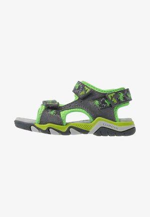BRIAN - Walking sandals - dark grey/green