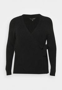 Dorothy Perkins Curve - CURVE LOUNGE WRAP - Vest - black - 0